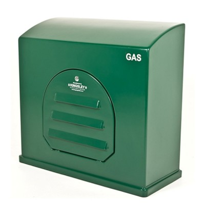 Kingsley GC3 Green Industrial Gas Meter Housing - Wall Mounted