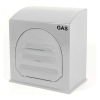 Kingsley GC2 White Industrial Gas Meter Housing - GC2 Wall Mounted