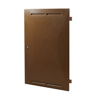 Mitras Gas Meter Box Door Brown (380mm x 545mm)