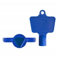 Blue Plastic Electric Meter Box Key