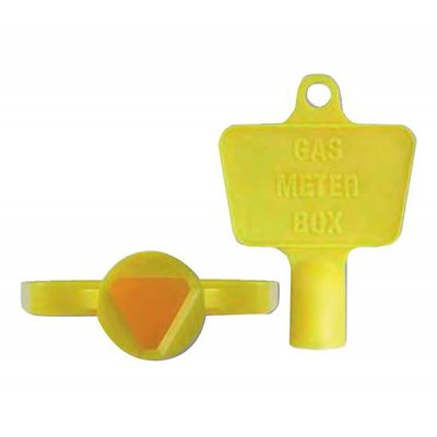 Yellow Plastic Gas Meter Box Key