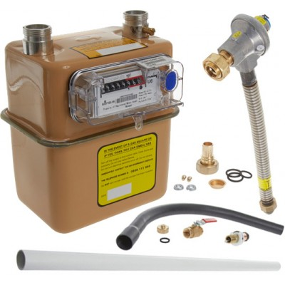1st and 2nd Stage Gas Meter Connection Kit - 25mm pipe (Recessed) With U6 Gas Meter