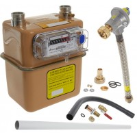 1st and 2nd Stage Gas Meter Connection Kit - 32mm pipe (Surface) With U6 Gas Meter